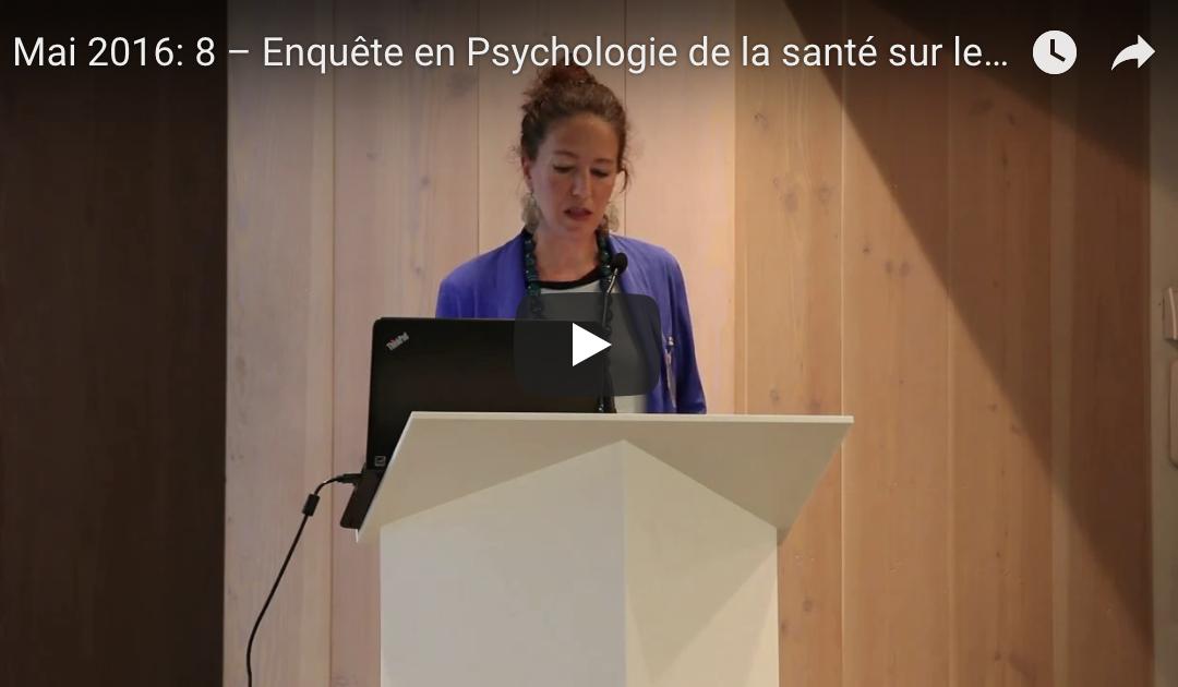 Mai 2016: 8 – Enquête en Psychologie de la santé sur les patients HPN et/ou Aplasie Médullaire