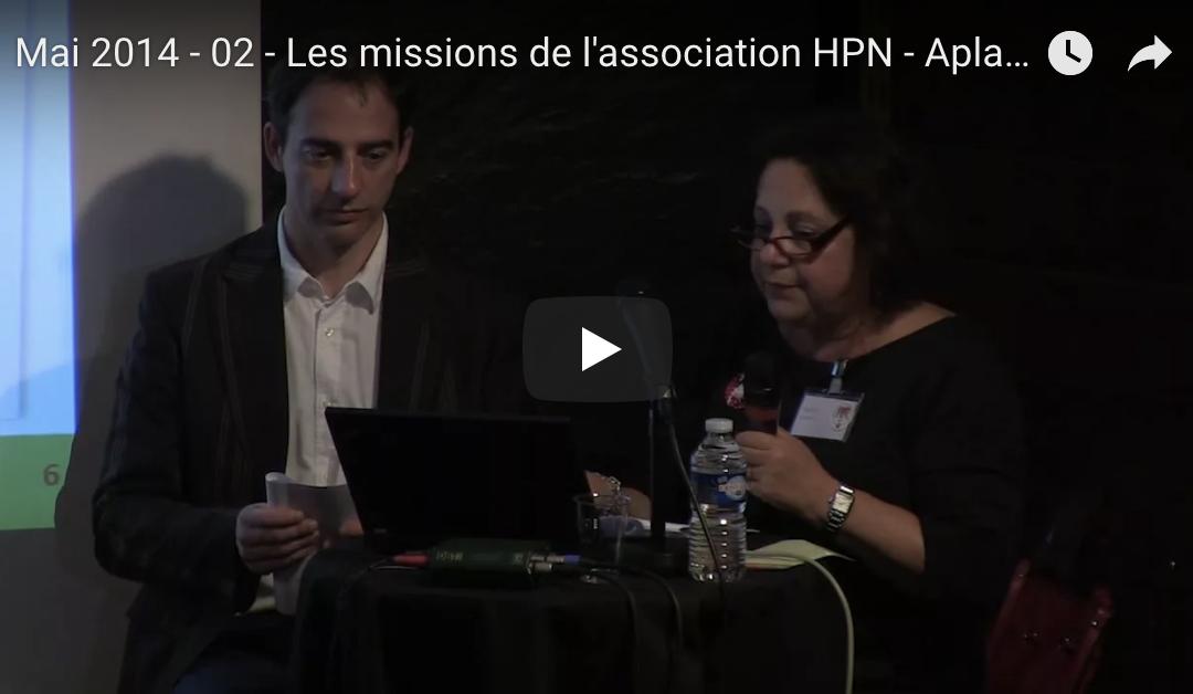 Mai 2014 – 02 – Les missions de l'association HPN France – Aplasie Médullaire