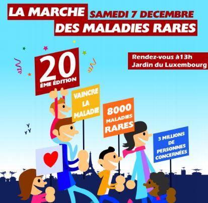 Annulation de la Marche des Maladies Rares de Décembre 2019