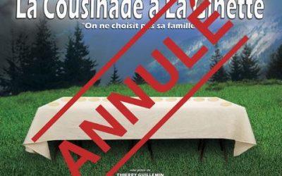 La Cousinade à la Ginette en Avril 2020 =>Spectacle Reporté en 2021