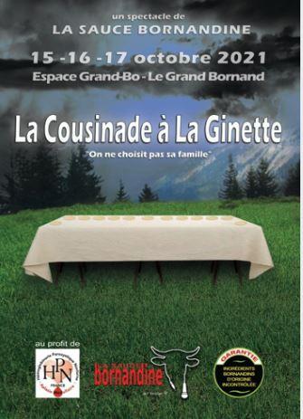 """Spectacle """"La Cousinade à la Ginette"""" en Octobre 2021"""
